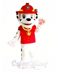 Paw Patrol Marshall Dog Adult Mascot Costume with Red Clothing Fancy Dress