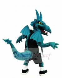 Turquoise Dragon with Wings Mascot Costumes