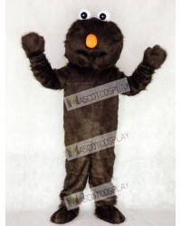 Long Fur Sesame Street Brown Chocalate Elmo Mascot Costume Cartoon Halloween Christmas
