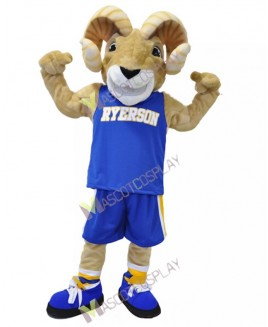 Sport Team Ram Ryerson Mascot Costume Cartoon Character Animal Costume