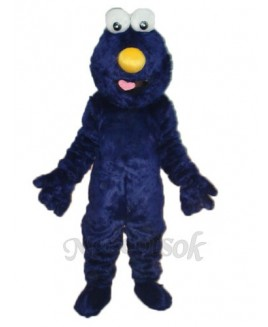 Dark Blue Elmo Sesame Street Plush Adult Mascot Costume