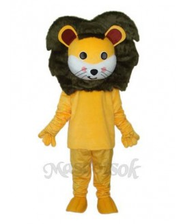 Small Yellow Lion Mascot Adult Costume