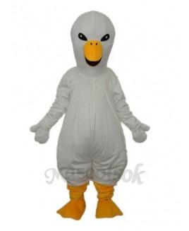 White Swan Mascot Adult Costume