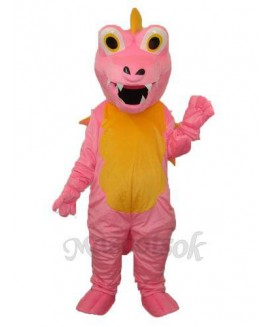 Pink Long Thorn Dragon Mascot Adult Costume