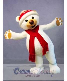 Christmas Polar Bear Mascot Costume