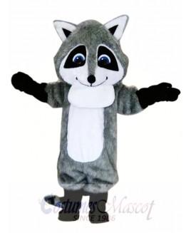 Cute Gray Raccoon Mascot Costume