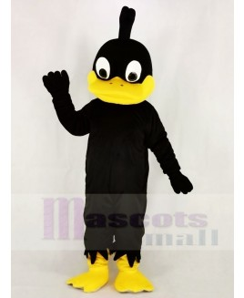 Black Duck with Yellow Mouth Mascot Costume Animal