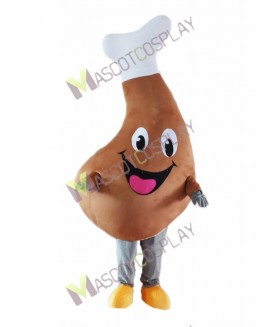 High Quality Adult Chicken Drumstick Mascot Costume