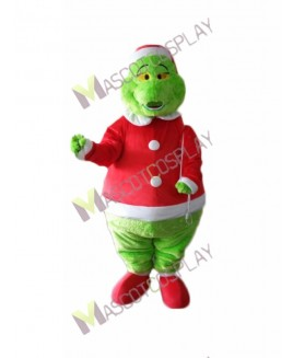 High Quality Adult Green Grinch Stole Mascot Costume