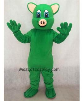 Hot Sale Adorable Realistic New Green Female Pig Piggy Adult Mascot Costume