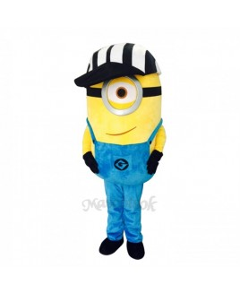 Despicable Me Funny Minions One Eye with Hat Mascot Costume Custom Fancy Costume Anime Cosplay