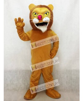 African Lion Mascot Costume with Red Nose