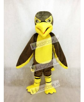 Hot Sale Adorable Realistic New Brown and Yellow Hawk / Falcon Mascot Costume