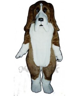 Cute Basset Hound Dog Mascot Costume