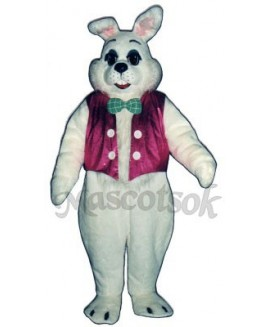 Easter Bunny Rabbit with Vest & Bowtie Mascot Costume