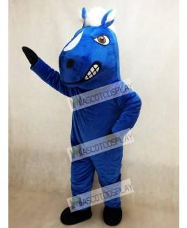 Adult Royal Blue Mustang Horse Mascot Costume