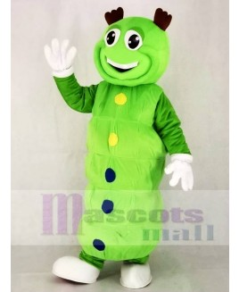 Cute Green Caterpillar Mascot Costume Animal