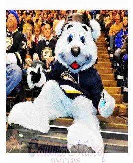 Louie Blue Furred Polar Bear Of The St Louis Blues Mascot Costume