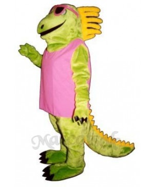 Irma Iguana with Dress & Sunglasses Mascot Costume