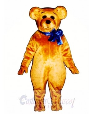 Cute Teddy with Bow Christmas Mascot Costume