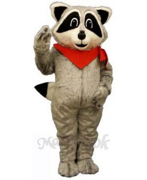 Raccoon with Neckerchief Mascot Costume