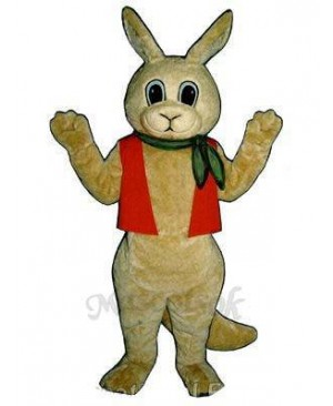 Aussie Roo Kangaroo with Neckerchief & Vest Mascot Costume