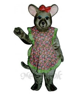 Charlotte Mouse with Apron & Bow Mascot Costume