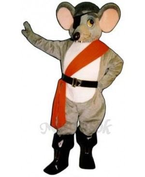 River Rat with Eye Patch, Sash & Boots Mascot Costume