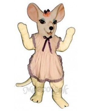 Miss Mouse with Apron & Bow Mascot Costume