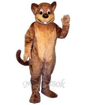 Morley Muskrat Mascot Costume