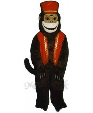 Organ Grinder Monkey with Vest & Hat Mascot Costume