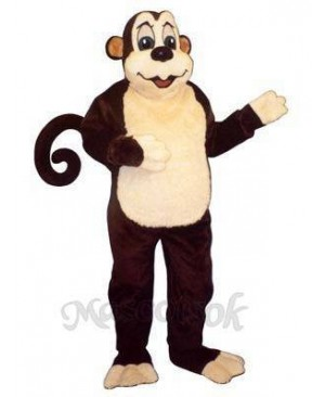 Zoo Monkey with Wired Tail Mascot Costume