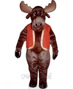 Milton Moose with Christmas Vest Mascot Costume