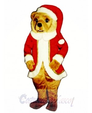 Red St. Bear Claws Christmas Mascot Costume