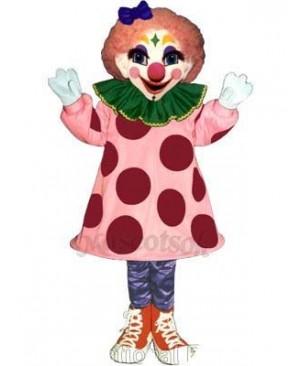 Girl Clown Mascot Costume