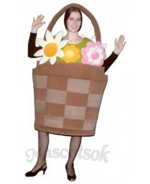 Basket of Flowers Mascot Costume