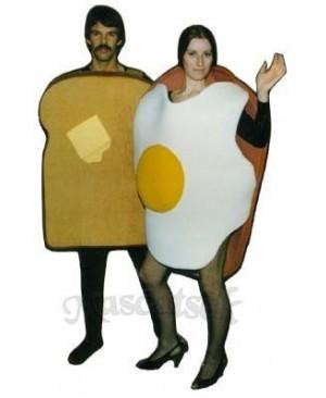 Ham & Eggs Mascot Costume