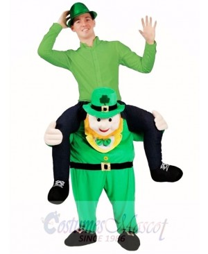 Piggy Back Costume Carry Me Leprechaun Mascot Costume St Patricks Day Fancy Dress
