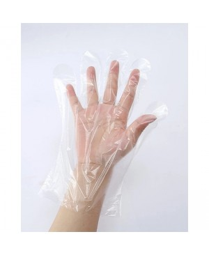 100 PCS Disposable Gloves Transparent Plastic