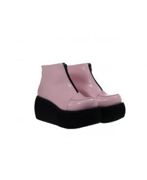 "Pink 3.1"" Heel High Lovely Polyurethane Round Toe Ankle Straps Platform Lady Lolita Shoes"