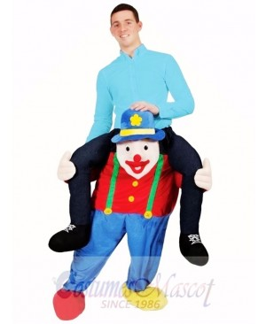 Carry Me Illusion Costume Piggy Back Circus Clown Mascot Costume Ride On Me Funny Fancy Dress