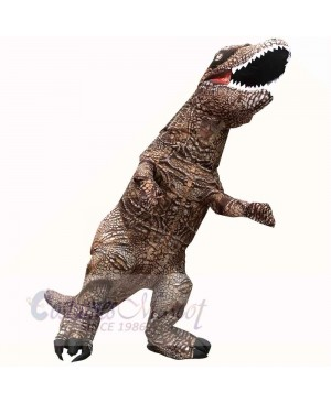 Dark Brown Tyrannosaurus T-Rex Dinosaur Inflatable Costume Halloween Xmas for Adult