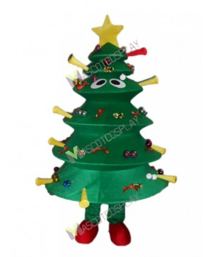 Christmas Tree Mascot Costume Xmas Green Tree Mascot