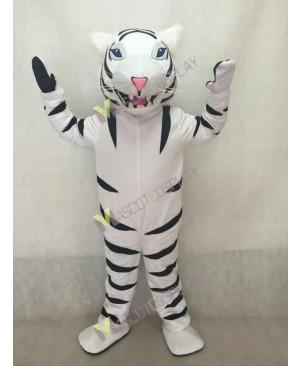 White Albino Tiger Mascot Costume