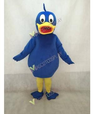 Blue Duck Mascot Costume with Yellow Beak