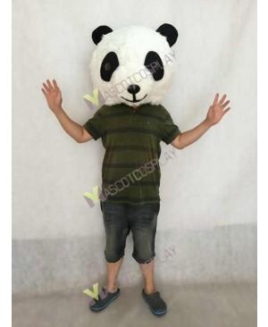 Plush Panda HEAD ONLY Mascot Costume