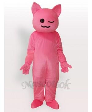 Pinky Cartoon Cat Adult Mascot Costume