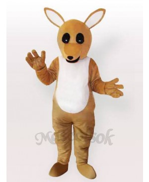 The Yellow Kangaroo Adult Mascot Costume