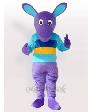 Purple Kangaroo Adult Mascot Costume
