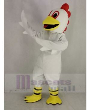 White Chicken Mascot Costume Animal